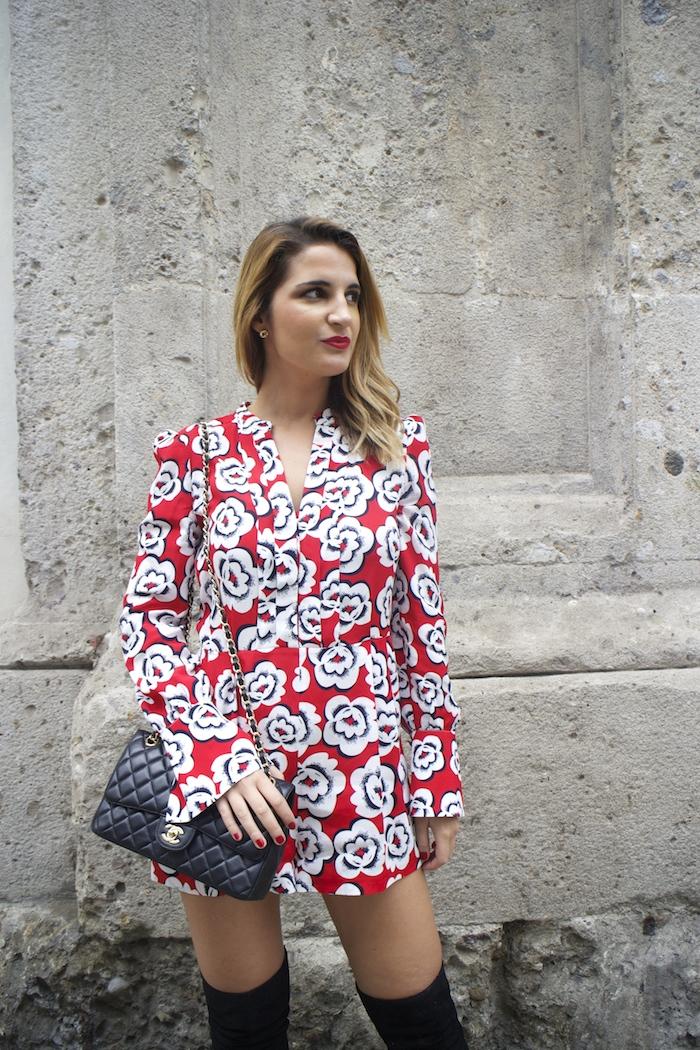 Tara Jarmon Madrid jumpsuit flowers Amarás la moda Paula Fraile4