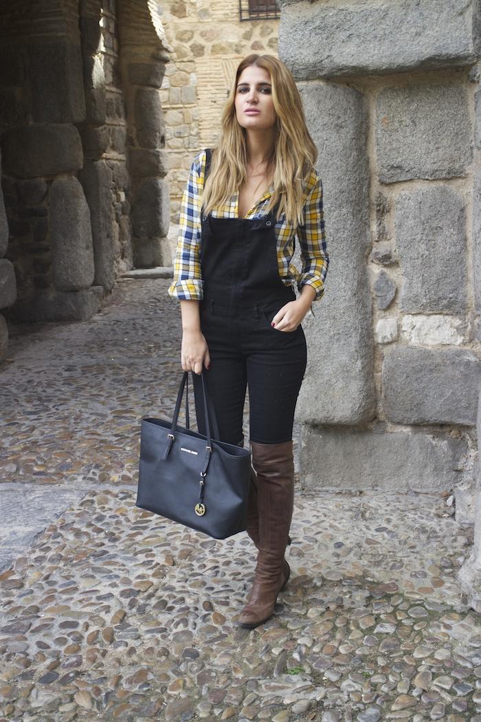 camisa cuadros primark mono zara botas Pons Quintana Amarás la moda Paula Fraile 4