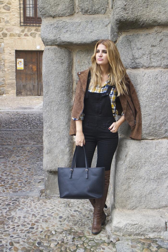 camisa cuadros primark mono zara botas Pons Quintana Amarás la moda Paula Fraile 6