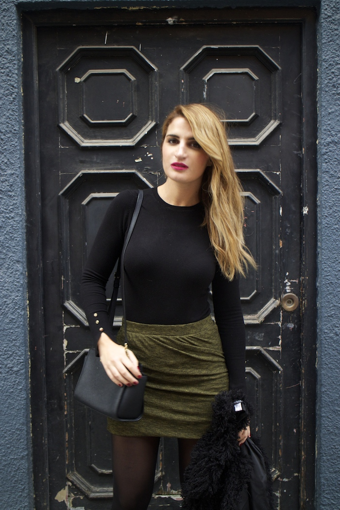 zara sweater skirt michael kors bag pilar burgos shoes amaras la moda Paula Fraile6