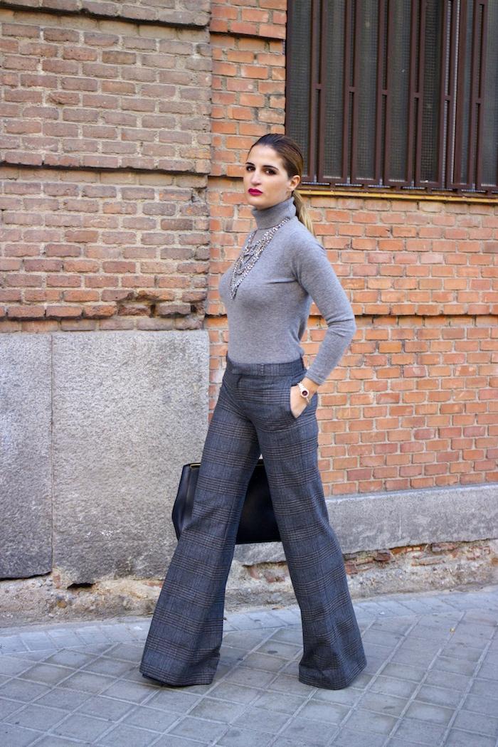 Marc Maddox watch Zara pants Carolina Herrera sweater Fendi bag amaras la moda Paula Fraile