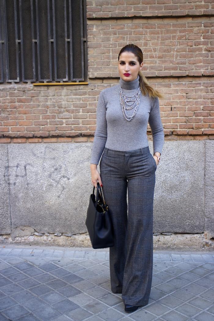 Marc Maddox watch Zara pants Carolina Herrera sweater Fendi bag amaras la moda Paula Fraile11