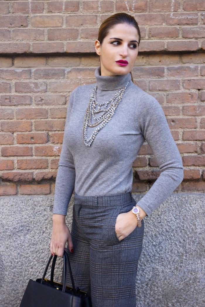 Marc Maddox watch Zara pants Carolina Herrera sweater Fendi bag amaras la moda Paula Fraile3