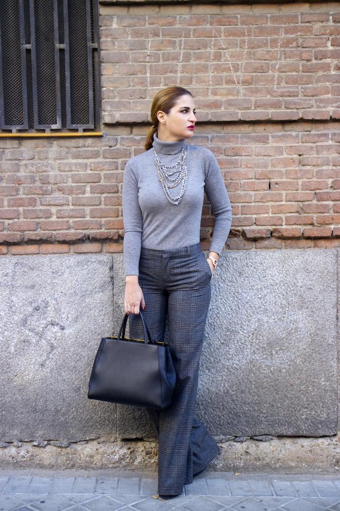 Marc Maddox watch Zara pants Carolina Herrera sweater Fendi bag amaras la moda Paula Fraile5