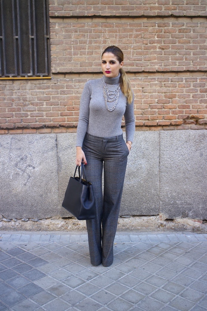 Marc Maddox watch Zara pants Carolina Herrera sweater Fendi bag amaras la moda Paula Fraile9