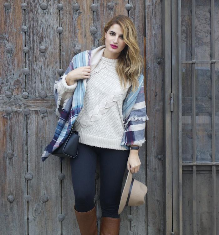 jersey La Redoute mallas calzedonia botas clarks foulard oysho amaras la moda Paula Fraile.6