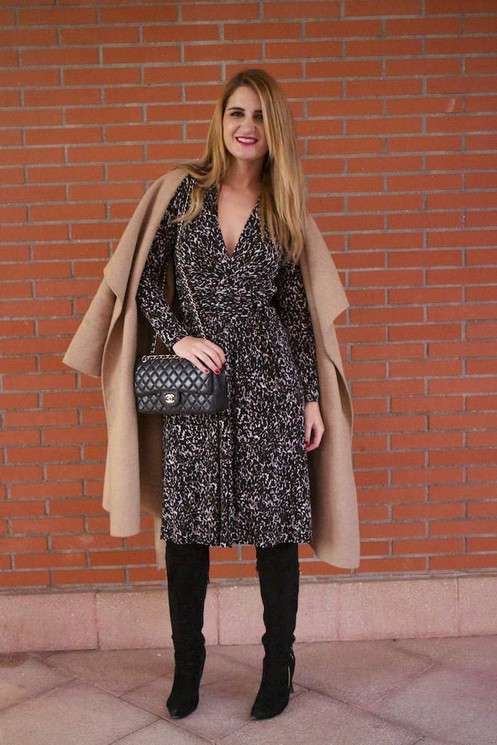 michael kors animal print dress amaras la moda chanel bag over the knee boots Pilar Burgos Paula Fraile10