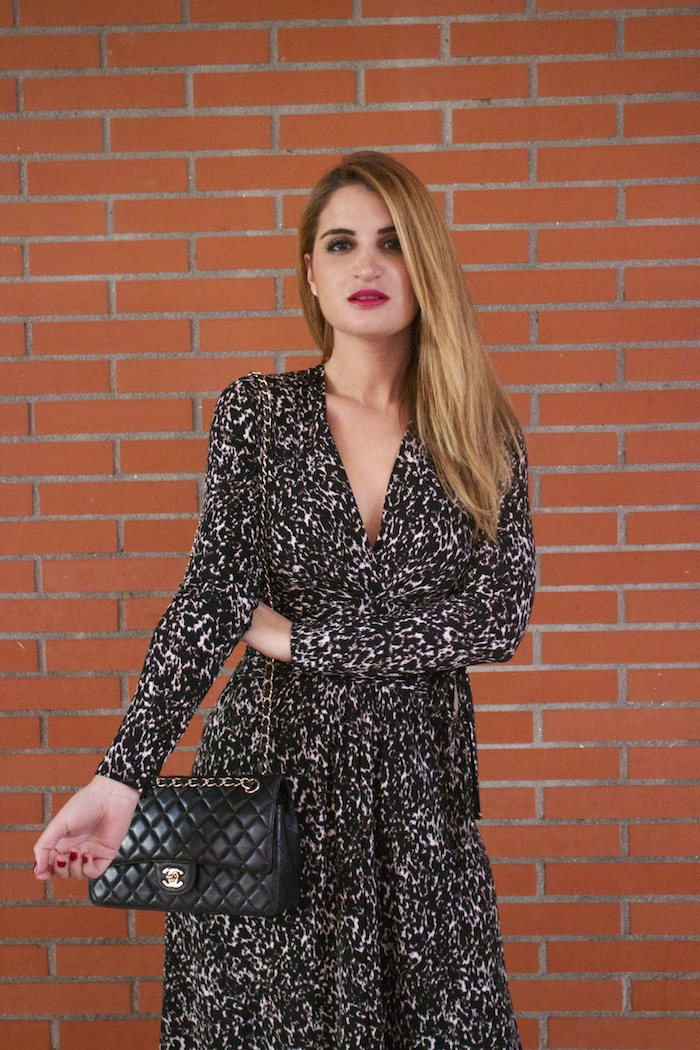 michael kors animal print dress amaras la moda chanel bag over the knee boots Pilar Burgos Paula Fraile2