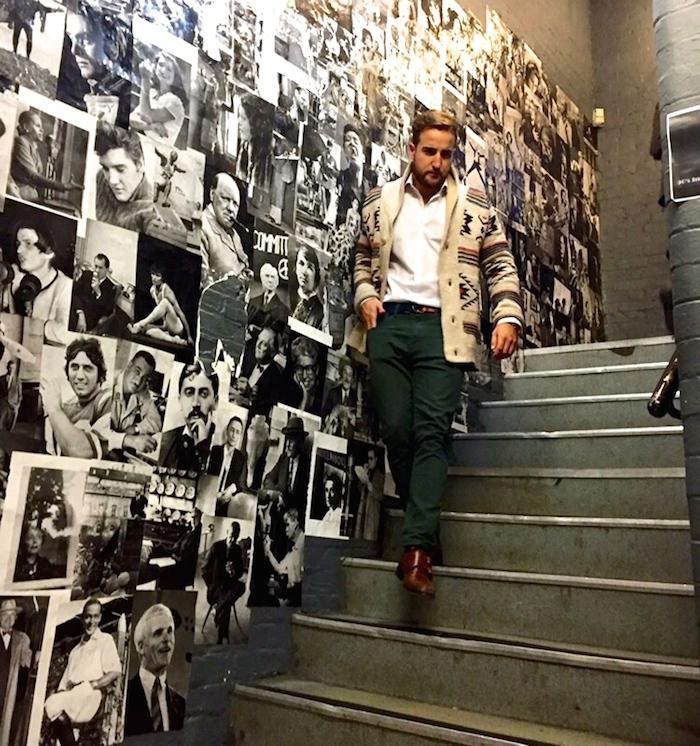 amaras la moda mano Pablo Méndez london green pants.4