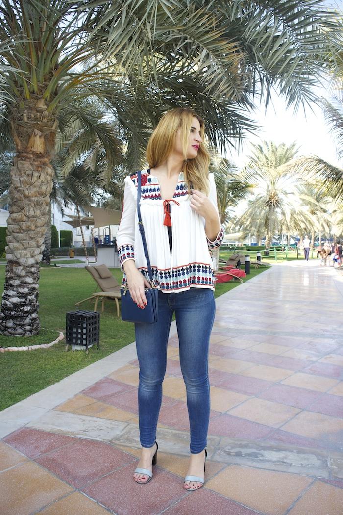 hermes belt michael kors bag zara jacket abu dhabi rotana beach amaras la moda  Paula Fraile3