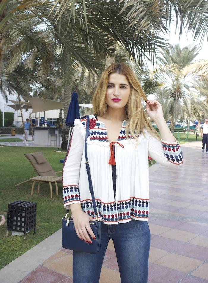 hermes belt michael kors bag zara jacket abu dhabi rotana beach amaras la moda  Paula Fraile4
