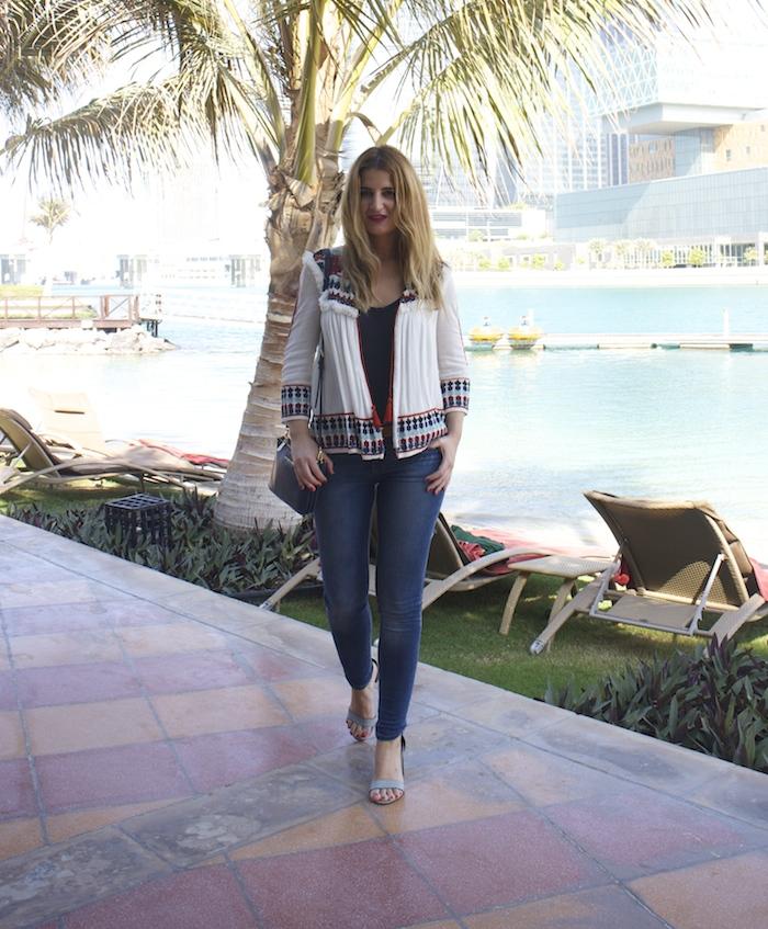 hermes belt michael kors bag zara jacket abu dhabi rotana beach amaras la moda  Paula Fraile5