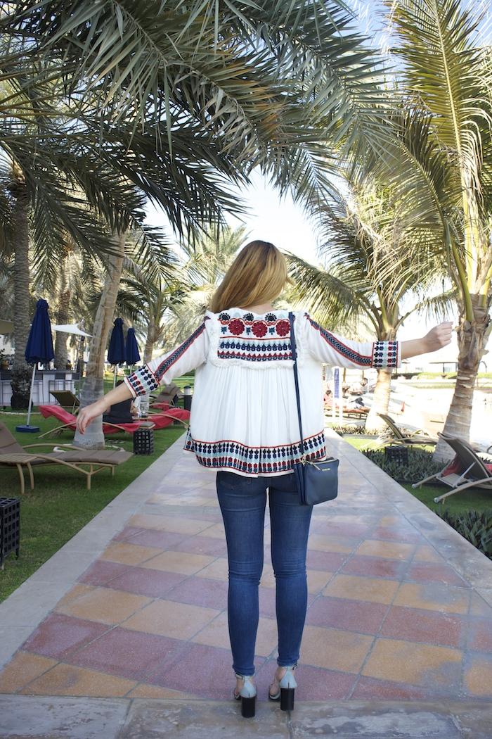 hermes belt michael kors bag zara jacket abu dhabi rotana beach amaras la moda  Paula Fraile6