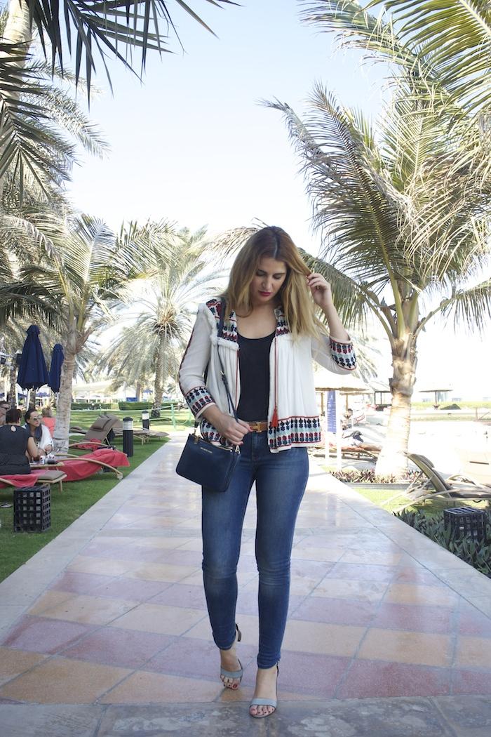 hermes belt michael kors bag zara jacket abu dhabi rotana beach amaras la moda  Paula Fraile7