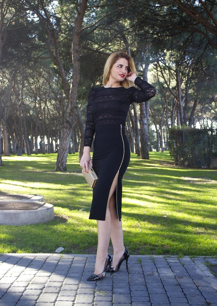 etxart and panno skirt chloe borel stilettos michael kors clutch amaras la moda Paula Fraile.4