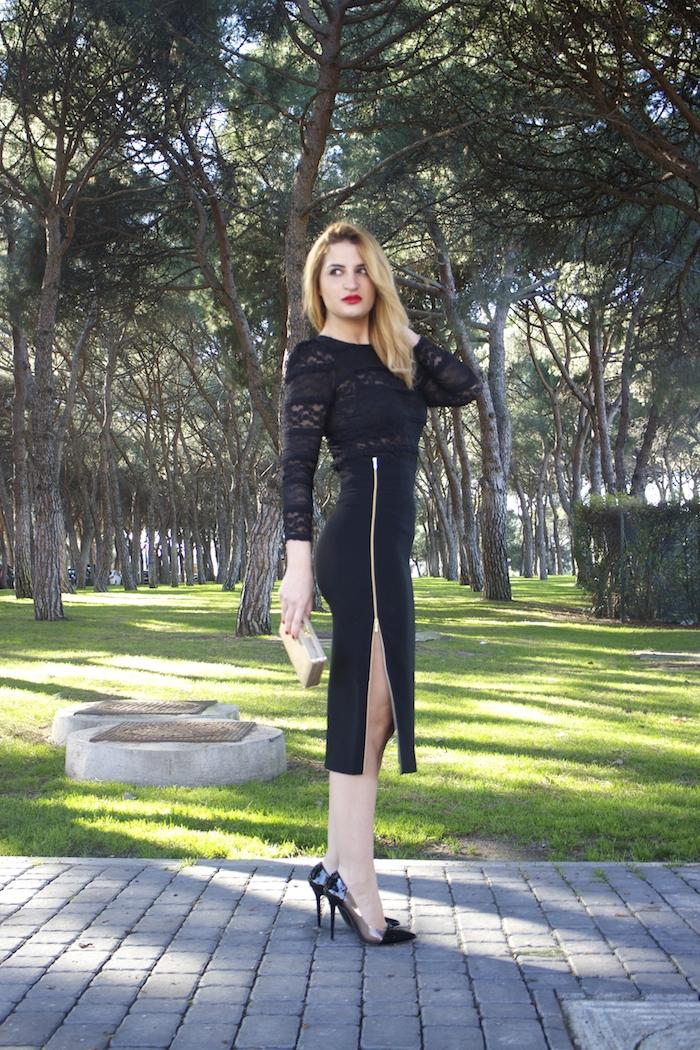 etxart and panno skirt chloe borel stilettos michael kors clutch amaras la moda Paula Fraile.5