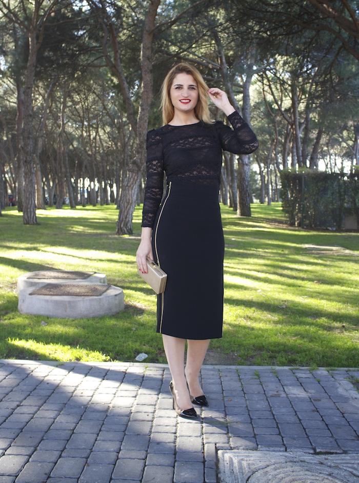 etxart and panno skirt chloe borel stilettos michael kors clutch amaras la moda Paula Fraile.6