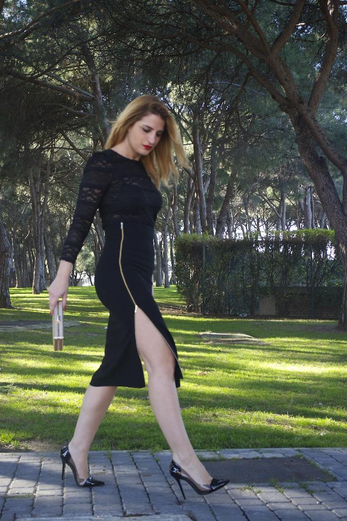 etxart and panno skirt chloe borel stilettos michael kors clutch amaras la moda Paula Fraile