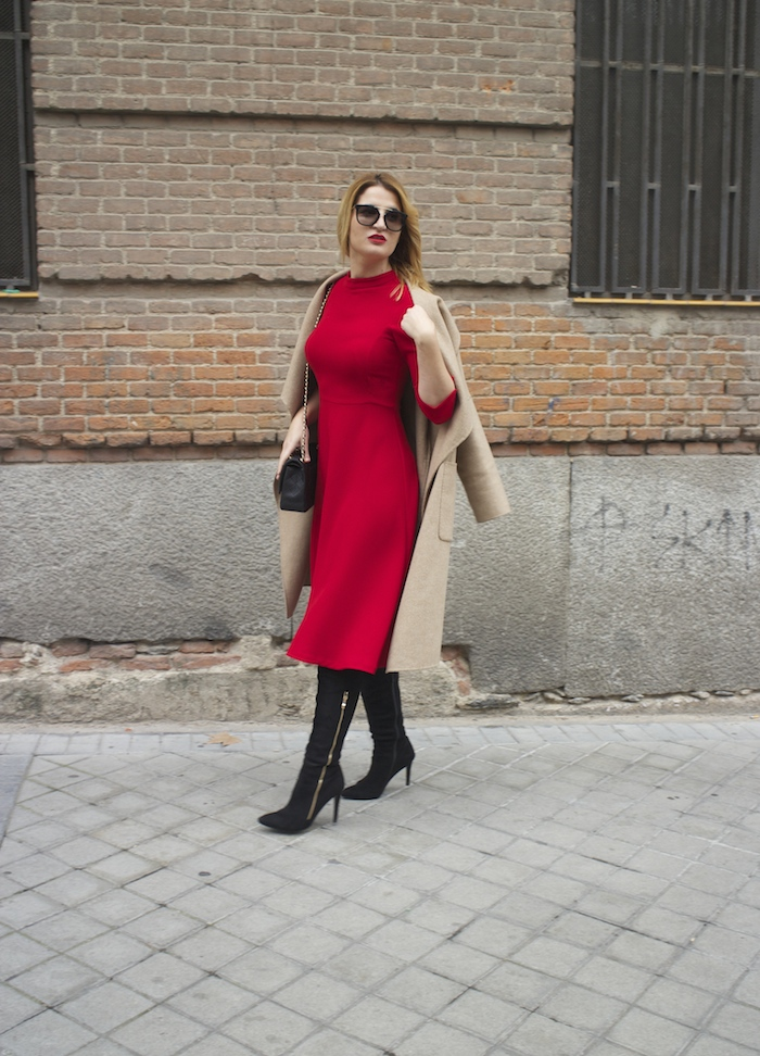 red dress zara chanel bag prada sunnies amaras la moda Paula Fraile4