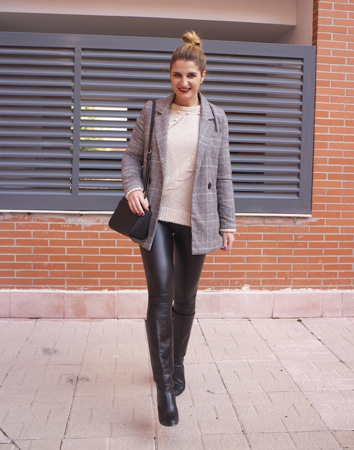 blazer leather pants michael kors bag amaras la moda paula fraile fashion blogger 6