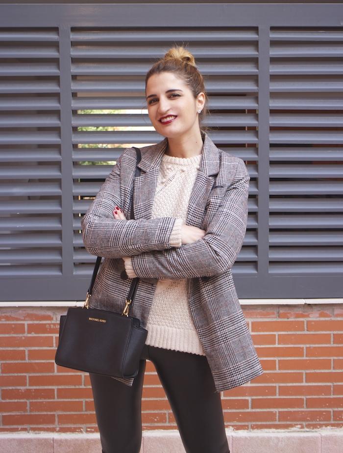 blazer leather pants michael kors bag amaras la moda paula fraile fashion blogger