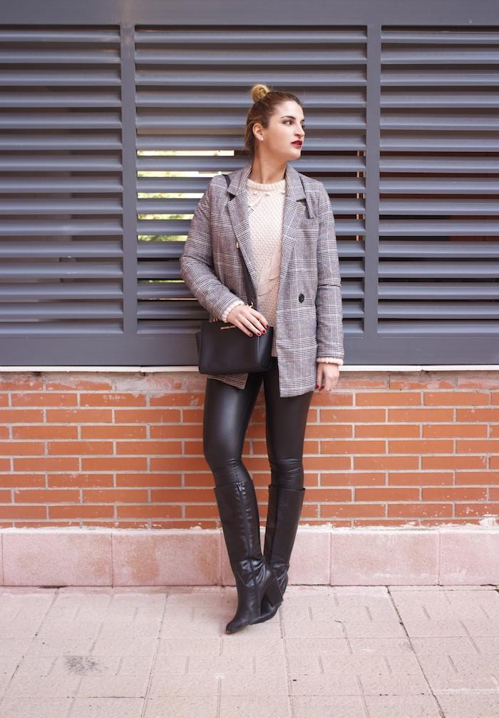 blazer leather pants michael kors bag amaras la moda paula fraile fashion blogger5