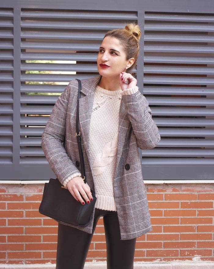 blazer leather pants michael kors bag amaras la moda paula fraile fashion blogger8