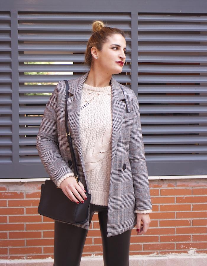 blazer leather pants michael kors bag amaras la moda paula fraile fashion blogger9