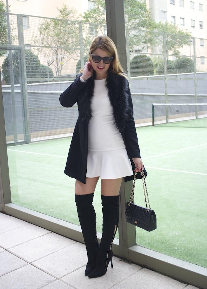 etxart and panno dress coat chanel bag Paula Fraile amaras la moda fashion blogger2