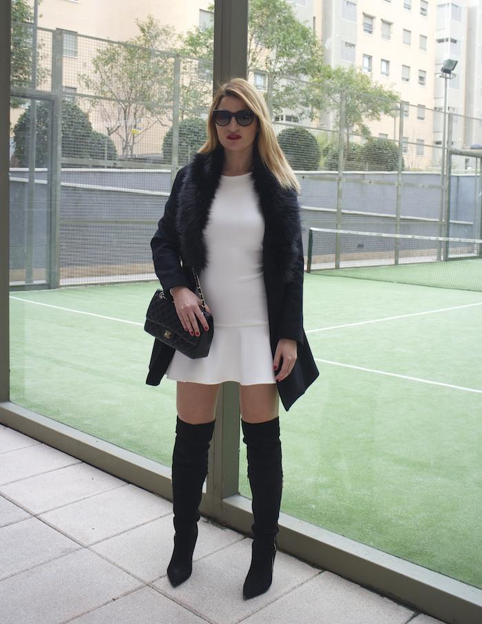 etxart and panno dress coat chanel bag Paula Fraile amaras la moda fashion blogger5