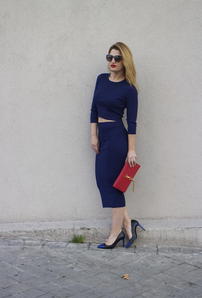etxart and panno top and skirt Yves saint laurent bag amaras la moda Paula Fraile Fashion blogger6