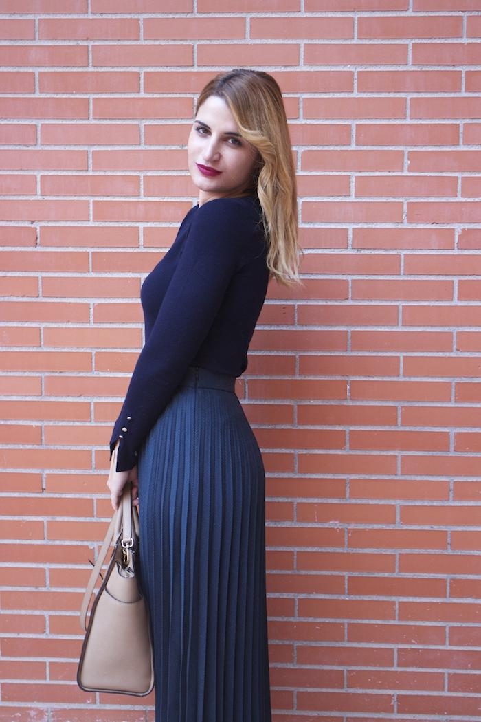falda plisada Zara zapatos LK Bennett michael kors bag amaras la moda Paula Fraile.4