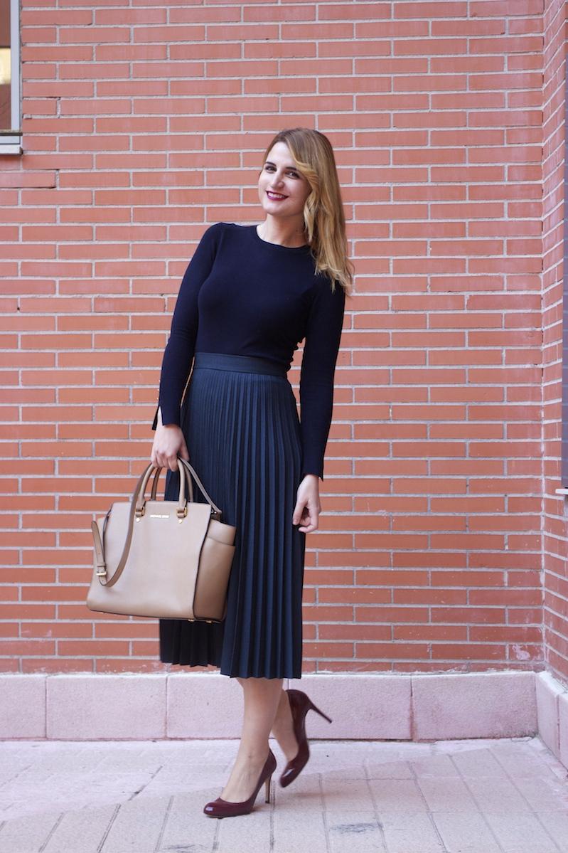 589fc33f6 falda plisada Zara zapatos LK Bennett michael kors bag amaras la ...