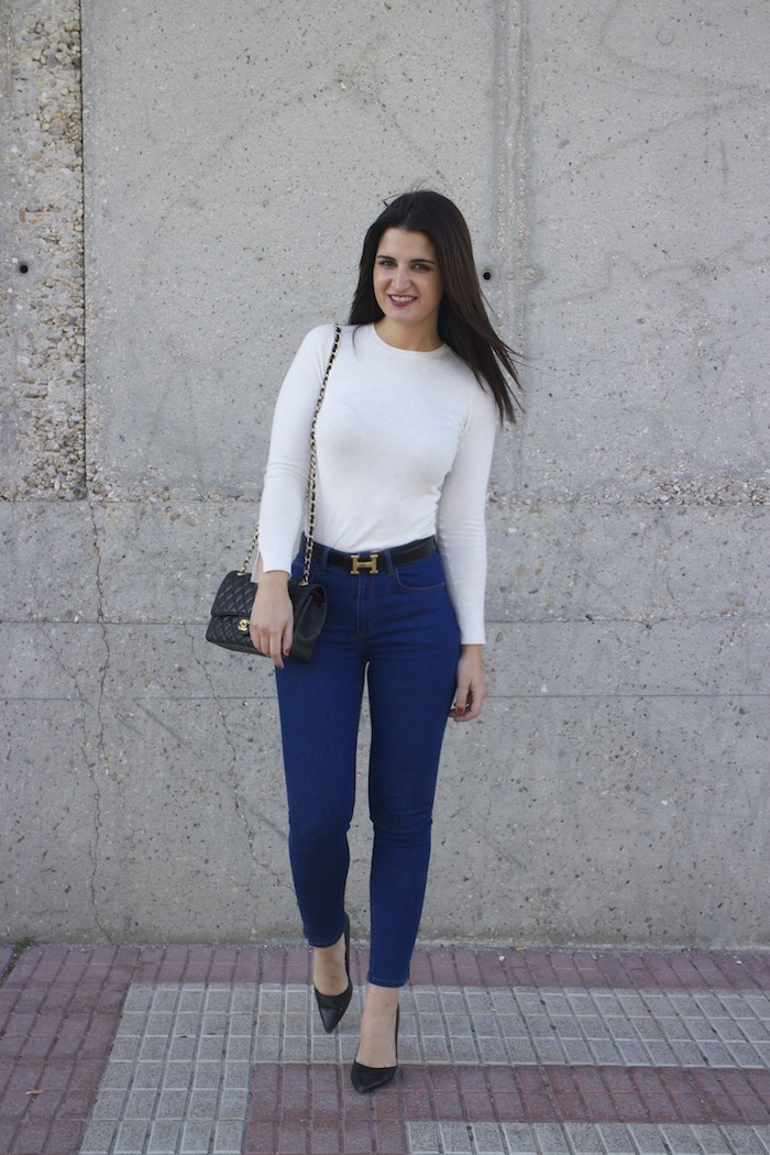 hermes belt chanel bag capri jeans white amaras la moda paula fraile11