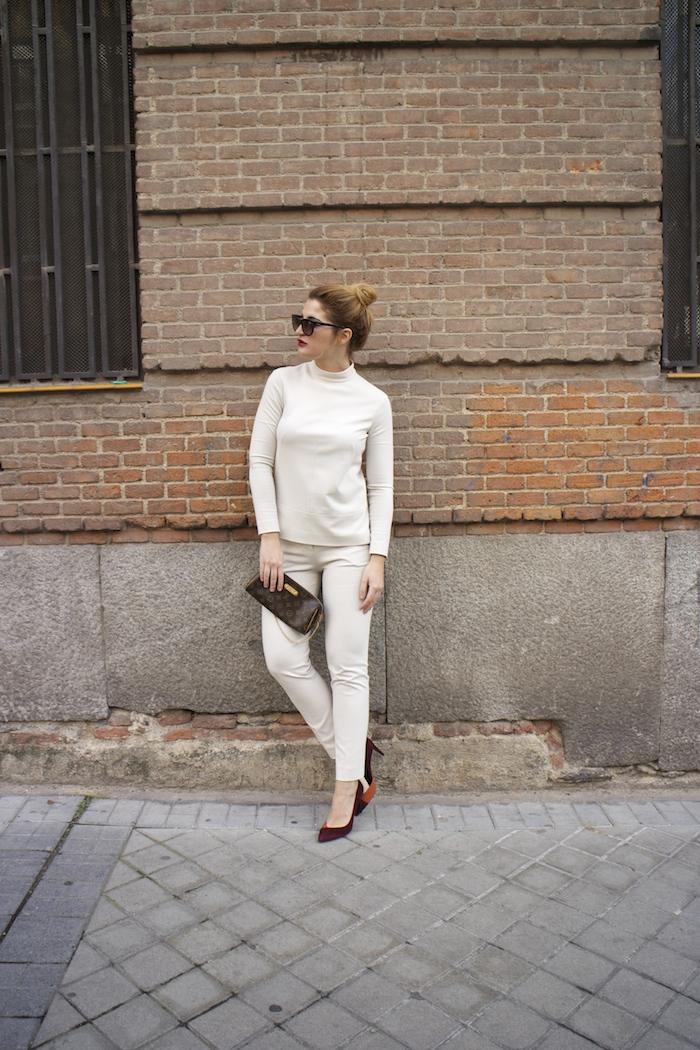 top pantalón ángel schlesser Paula Fraile Amaras la moda louis vuitton bag fashion blogger2