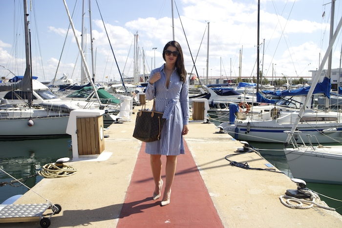 la redoute dress louis vuitton bag amaras la moda chloe borel shoes paula fraile