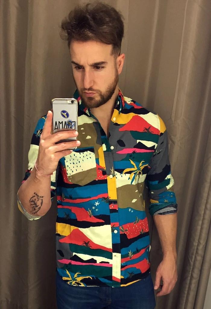 amaras la moda man camisa colores pablo mendez londres paula fraile