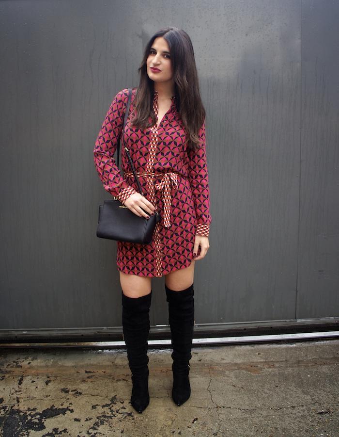 vestido Zara print psicodelia amaras la moda michael kors bag bolso paula fraile fashion blogger.2