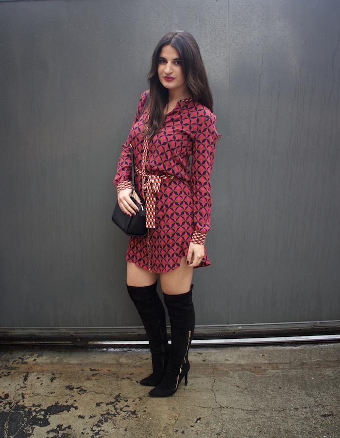 vestido Zara print psicodelia amaras la moda michael kors bag bolso paula fraile fashion blogger.4
