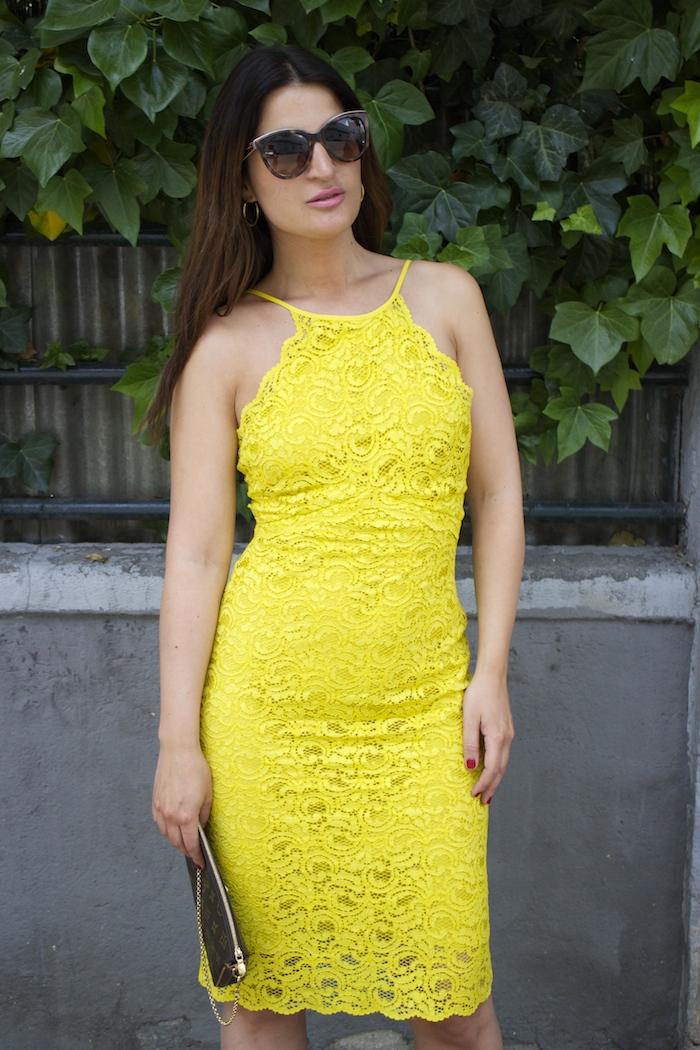 yellow dress zara amaras la moda chloe borel shoes louis vuitton bag paula fraile4