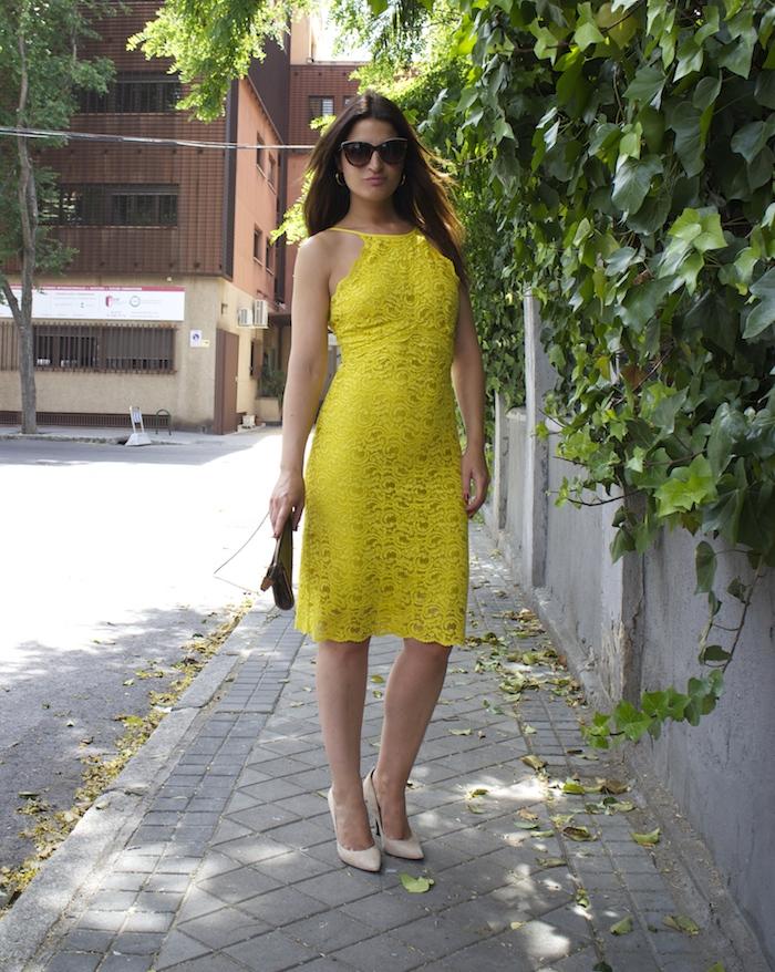 yellow dress zara amaras la moda chloe borel shoes louis vuitton bag paula fraile8
