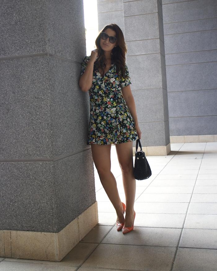 topshop flower dress amaras la moda Gucci heels Miu miu bag paula fraile2