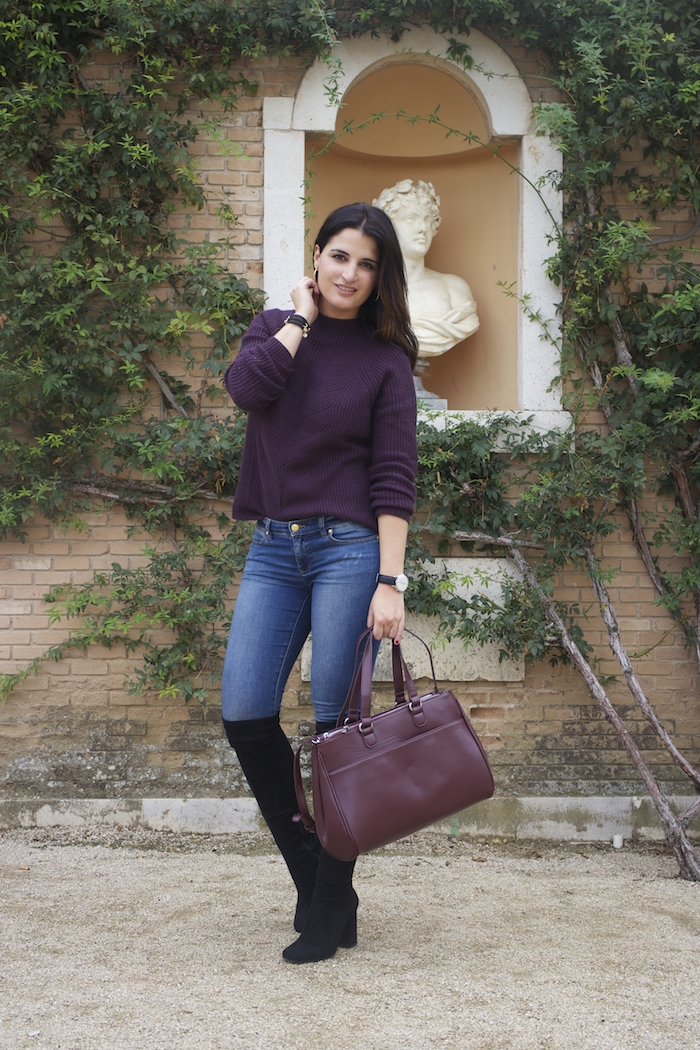 henry-london-watch-la-redoute-sweater-bag-over-the-knee-boots-paula-fraile-amaras-la-moda