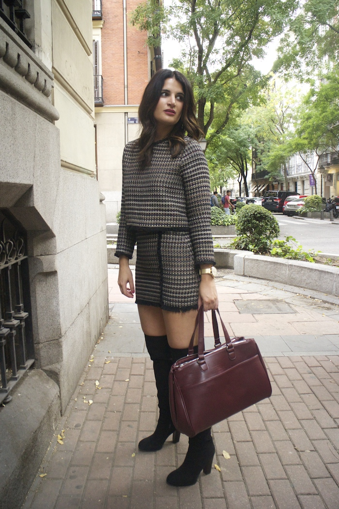 zara-top-and-skirt-over-the-knee-boots-justfab-la-redoute-bag-and-trench-amaras-la-moda-paula-fraile8