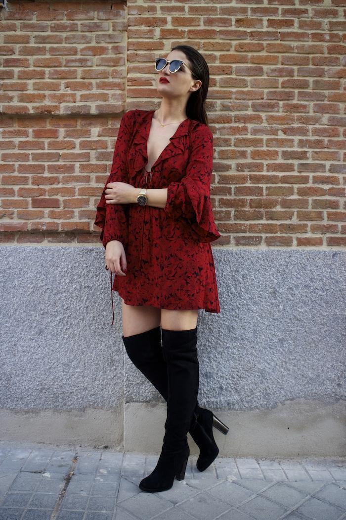 vestido Zara reloj henry london amaras la moda gafas monglam amaras la moda paula fraile4