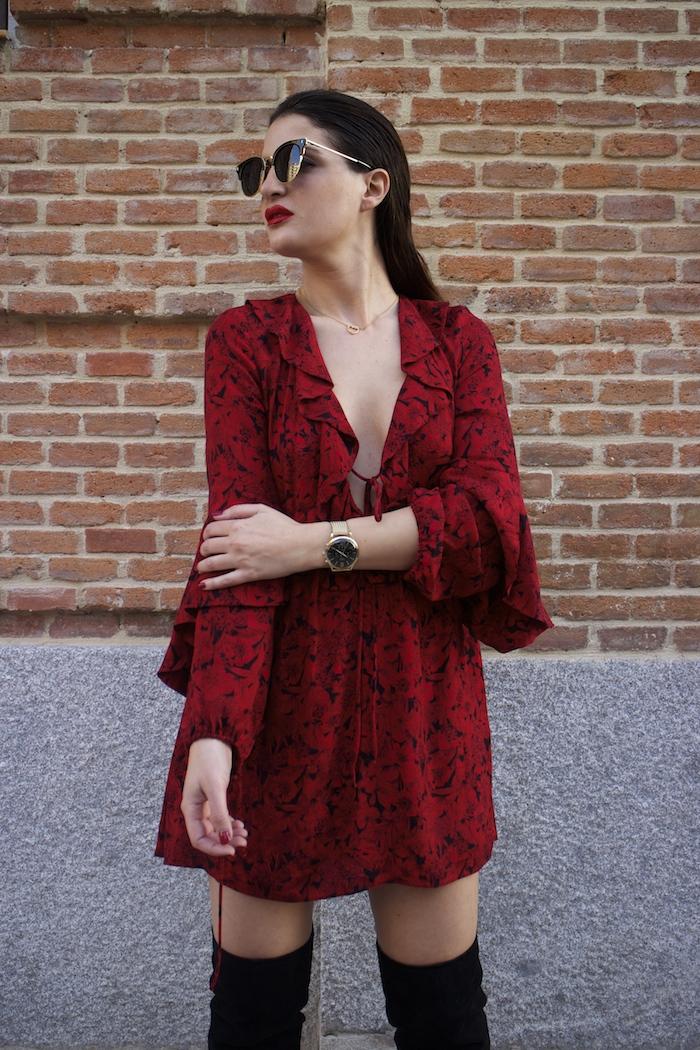 vestido Zara reloj henry london amaras la moda gafas monglam amaras la moda paula fraile5