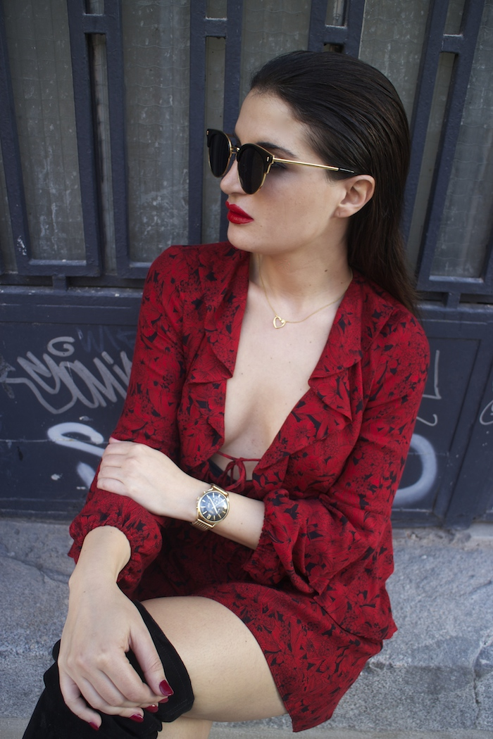 vestido Zara reloj henry london amaras la moda gafas monglam amaras la moda paula fraile7