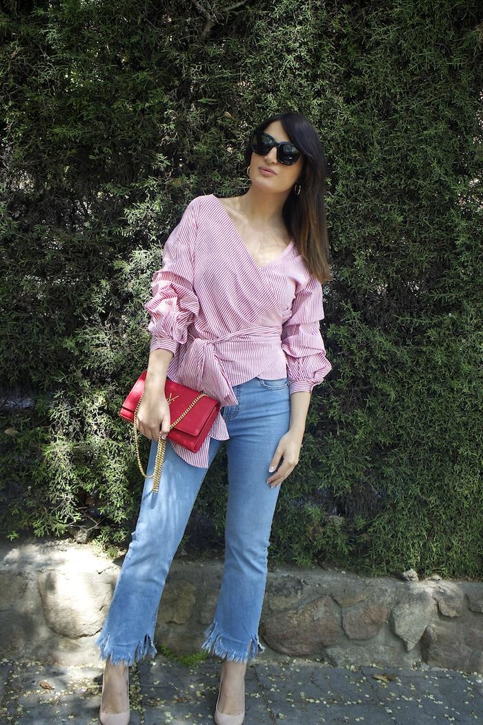 camisa jeans zara yves saint laurent bag amaras la moda paula fraile2