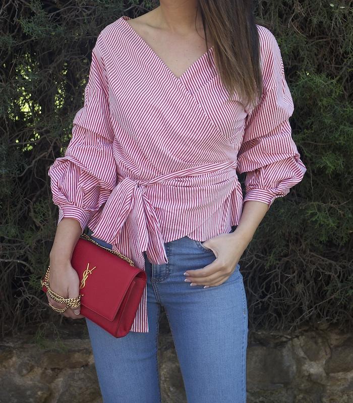 camisa jeans zara yves saint laurent bag amaras la moda paula fraile3