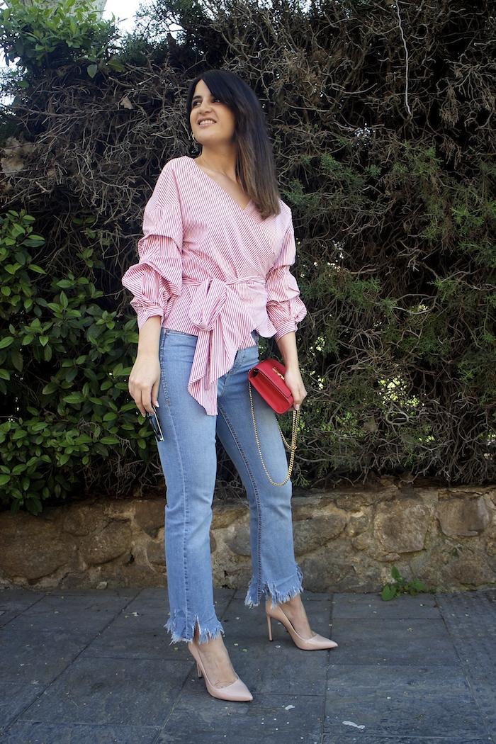 camisa jeans zara yves saint laurent bag amaras la moda paula fraile7
